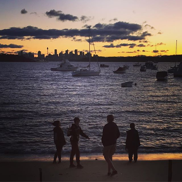 Sydney, sometimes we need a reminder of exactly how beautiful you are. Cold last light sand stroll in Watson Bay.Finished off with dinner at the pub. #nearlyforgothowbeautifulyouare#sydneylife#Sydney